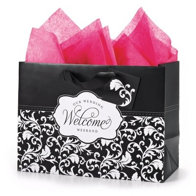 Welcome bags for those traveling in for your special day are a great ...
